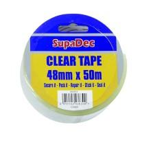 SupaDec Clear Tape (48mm x 50m) CT4850