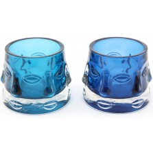 Glass Face Candle Holder