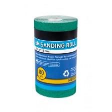 BlueSpot 5m 115mm Sanding Roll 80 Grit