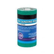 BlueSpot 5m 115mm Sanding Roll 120 Grit