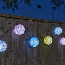 10 Chinese Lantern Solar String Lights