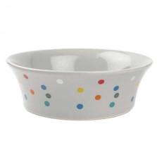 Flared Polka Dot Bowl