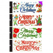 Christmas Large Window Stickers - Assorted