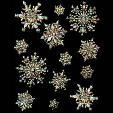 Christmas Irridescent Large 3D Snowflake Window Decorations