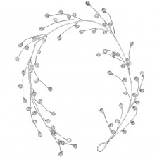 Christmas Wired Crystal Garland 1.1m