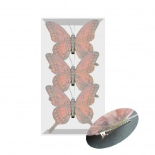 Christmas Clip on Butterflies (3 Pack) Blush Pink
