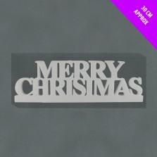 Christmas Chunky Merry Christmas Sign White