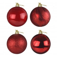 Christmas Giant Luxury Baubles (4 Pack) Red