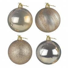 Christmas Giant Luxury Baubles (4 Pack) Champagne