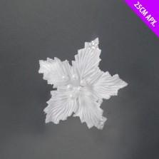 Christmas Poinsettia Flower Clip Decoration 25cm White