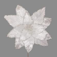 Christmas Luxury Poinsettia 30cm White