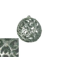 Christmas Lace Bauble 8cm Sage
