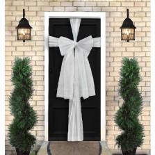 Christmas Door Bow Kit - White