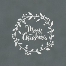 Christmas Wreath Window Sticker White