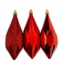 Christmas Geometric Drops (3 Pack) Red