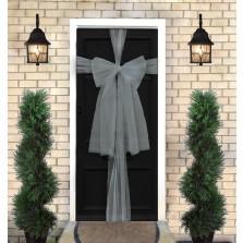 Christmas Door Bow Kit - Silver