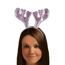 Christmas Glitter Antlers Pink