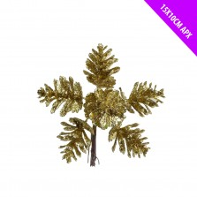 Christmas Glitter Pine Cone Pick Gold