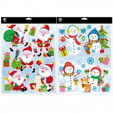 Christmas Snow Characters Window Stickers
