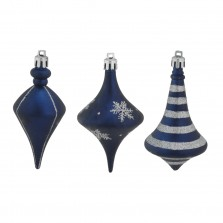 Christmas Deco Drops (3 Pack) Navy/Silver