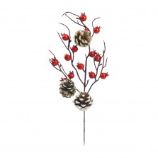 Christmas Berry and Pinecone Pick 28cm