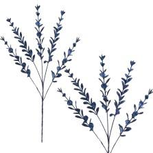 Christmas Glitter Eucalyptus Spray 75cm Navy Blue