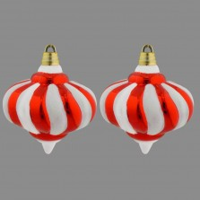 Christmas Large Bauble (2 Pack) Red/White