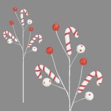 candy cane ball pick 65cm