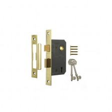 Era Viscount 5 Lever Brass Effect Mortice Deadlock 63mm
