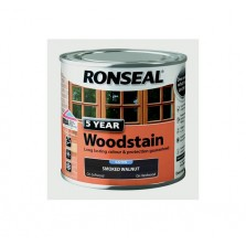 Ronseal 5 Year Wood Stain 250ml Smoked Walnut