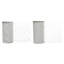 Christmas Textured Glitter Ribbon 2.7m White