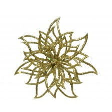 Christmas Flower Poinsettia on Clip Gold