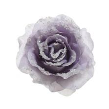 Glitter Clip Rose 14cm Lilac