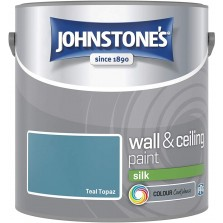Johnstones Vinyl Emulsion Paint 2.5L Teal Topaz Silk