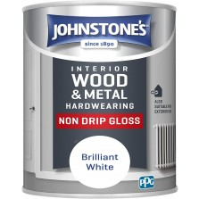 Johnstones Non Drip Gloss Paint 2.5L Brilliant White