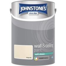 Johnstones Vinyl Emulsion Paint 5L  Magnolia Soft Sheen
