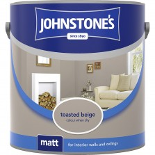 Johnstones Vinyl Emulsion Paint 5L Toasted Beige Matt