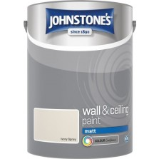 Johnstones Vinyl Emulsion Paint 5L Ivory Spray (Matt)