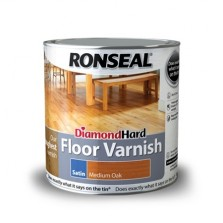 Ronseal Diamond Hard Floor Varnish 2.5L Medium Oak