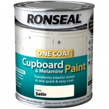 Ronseal One Coat Cupboard paint 750ml Ivory Satin