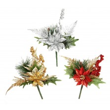 Christmas Luxe Flower Pick - Assorted
