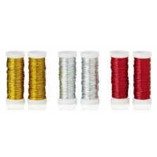 Christmas Coloured Decorative Wire (2 Pack)