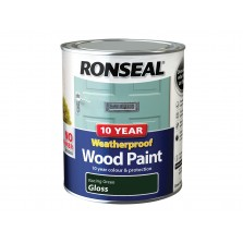 Ronseal 10 Year Weatherproof  Wood Paint Racing Green Gloss 750ml