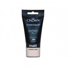 Crown Emulsion Paint Tester Pot 40ml Antique Cream (Matt)