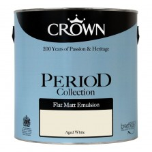 Crown Period Colours Emulsion Paint 2.5L Aged White (Matt)