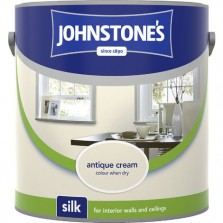 Johnstones Vinyl Emulsion Paint 5L Antique Cream Silk
