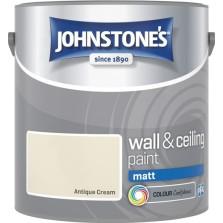 Johnstones Vinyl Emulsion Paint 2.5L Antique Cream (Matt)