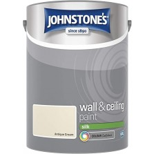 Johnstones Vinyl Emulsion Paint 2.5L Antique Cream Silk