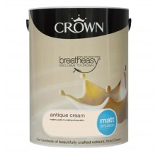 Crown Emulsion Paint 5L Antique Cream Matt