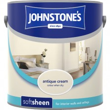 Johnstones Vinyl Emulsion Paint 2.5L Antique Cream Soft Sheen